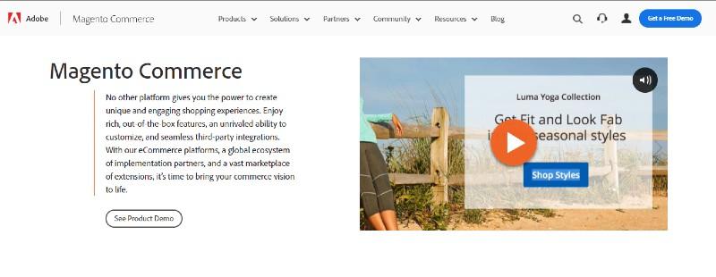 Magento - Best E-Commerce Website Builders
