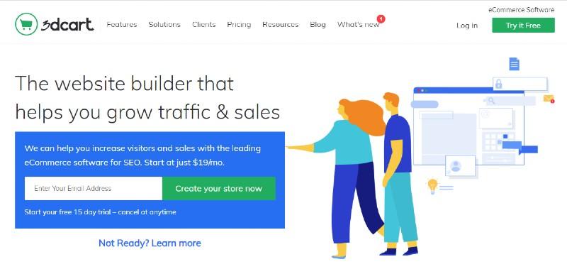 3dcart - Best E-Commerce Website Builders