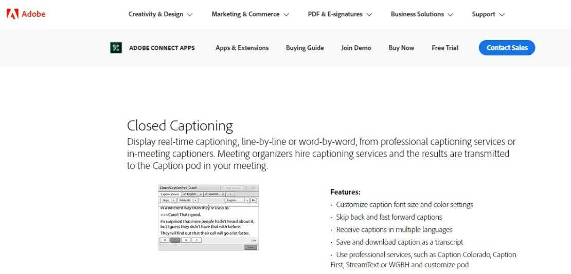 Adobe Closed Captioning - Best Closed Captioning Software