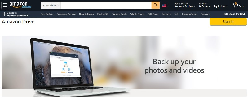 Amazon Drive - Best File Sharing Services