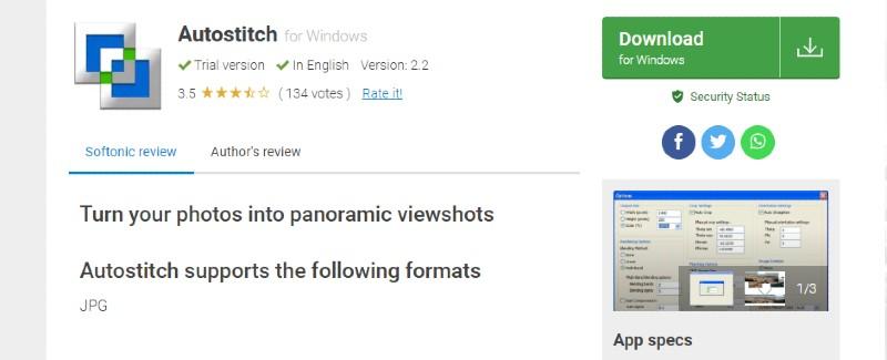 Autostitch - Best Photo Stitching Software