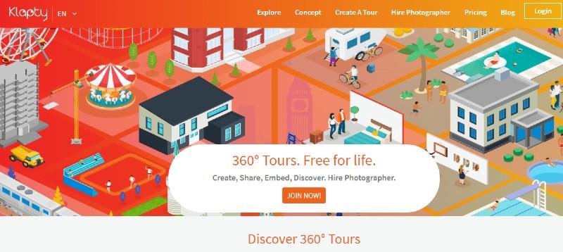 Klapty - Best Virtual Tour Software