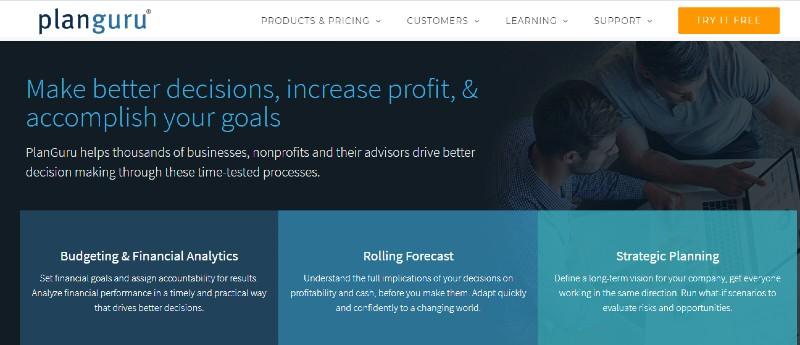 PlanGuru - Best Business Plan Software