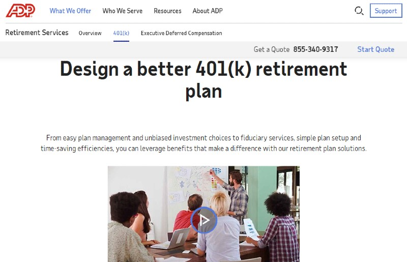 ADP - Best Small Business 401k Plans