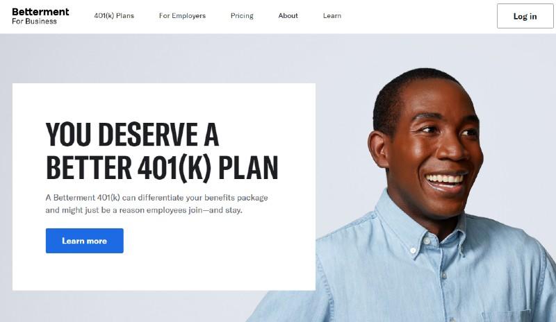 Betterment for Business - Best Small Business 401k Plans
