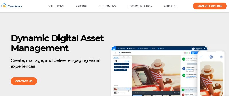 Cloudinary - Best Digital Asset Management Software