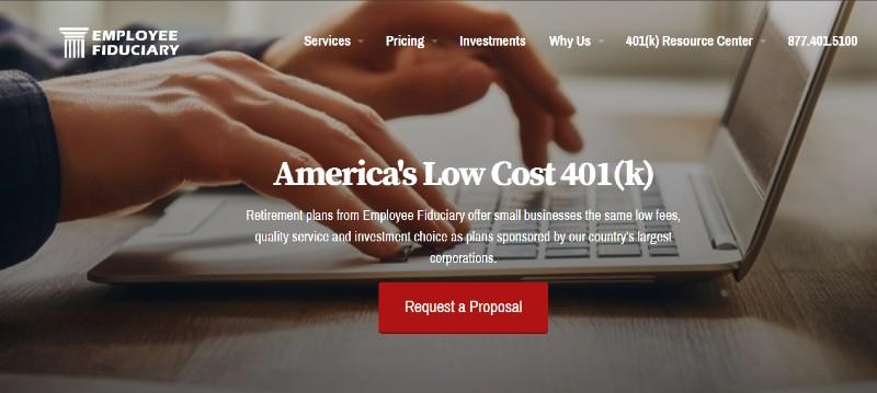 Employee Fiduciary - Best Small Business 401k Plans