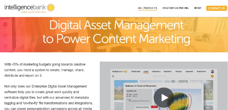 IntelligenceBank - Best Digital Asset Management Software