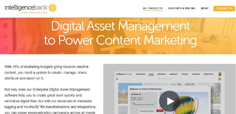 IntelligenceBank - Best Digital Asset Management Software