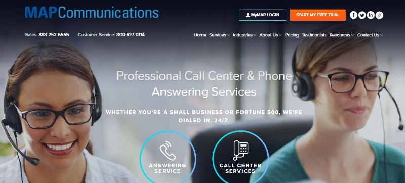 Map Communications - Best Business Answering Services