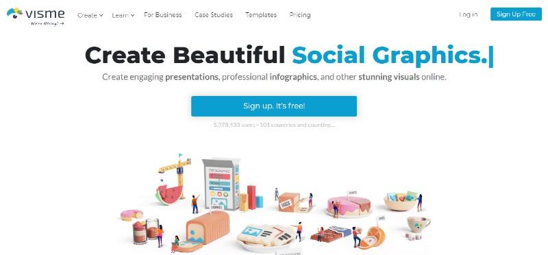 Visme - Best Content Creation Tools
