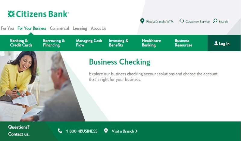 Citizens Bank - Best Business Checking Accounts for Entrepreneurs