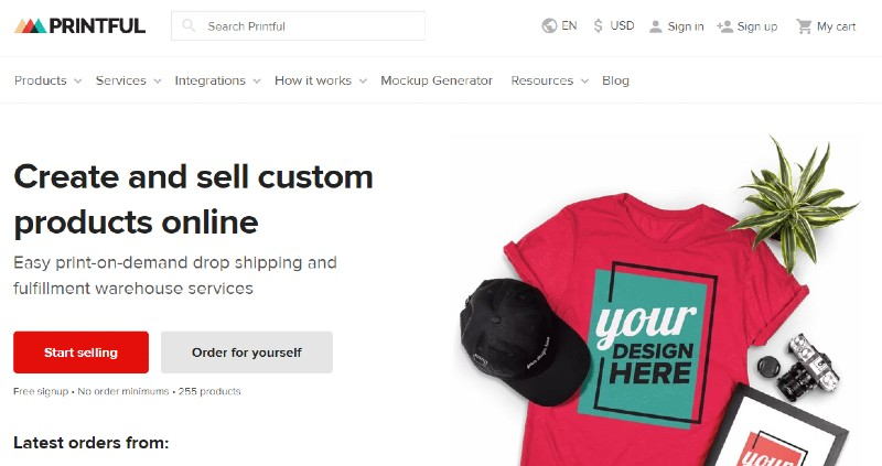 Printful - Best Dropshipping Companies for your eCommerce Business