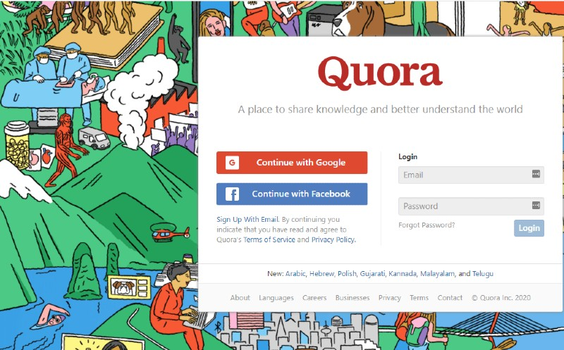 Quora - How to Come up with Content for Your Business Blog Posts