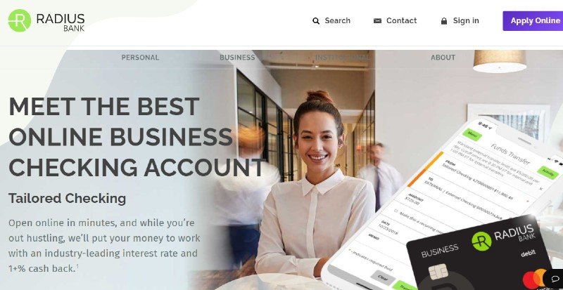 Radius Bank - Best Business Checking Accounts for Entrepreneurs