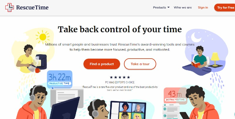 Rescue Time - How Many SaaS Tools You Need to Start Your Business