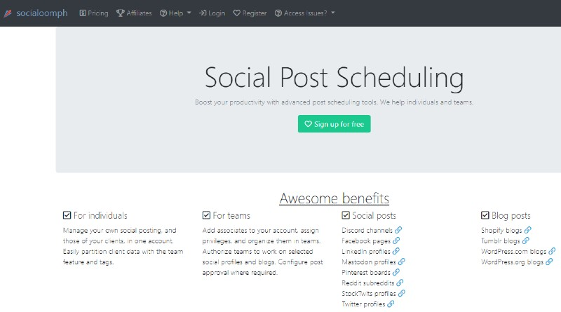 Social Oomph - How to Autoshare Your Blog Posts on Social Media
