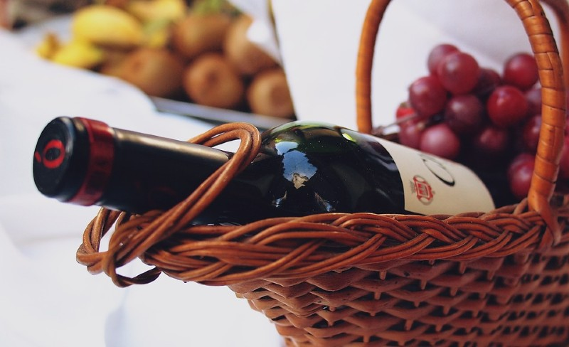 Wine basket - Appreciation Day Ideas For Remote Employees