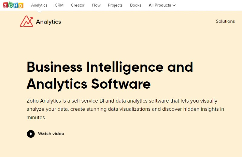 Zoho Analytics - Best Business Intelligence Software