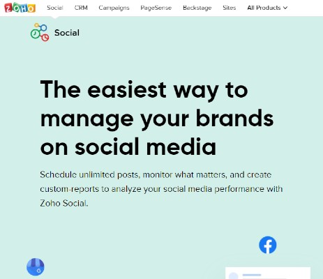 Zoho Social - How Many SaaS Tools You Need to Start Your Business