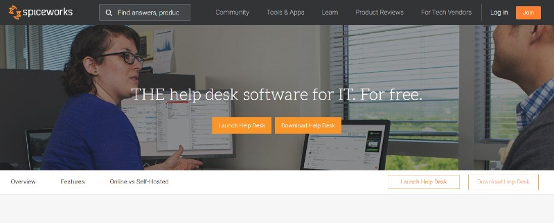 Spiceworks help desk - Best Incident Management Software