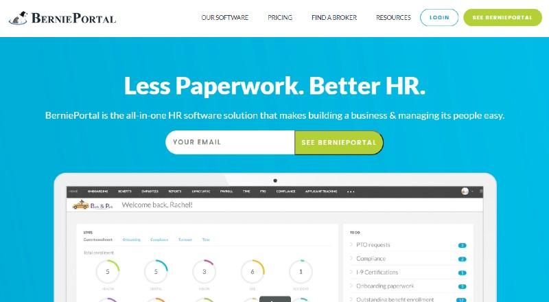 BerniePortal - Best Human Resources Software for Startups