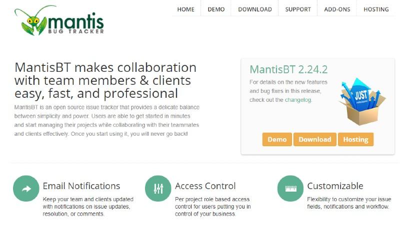 Mantis BT - Best Incident Management Software