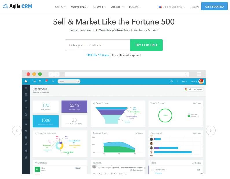 Agile CRM - Best Lead Management Software