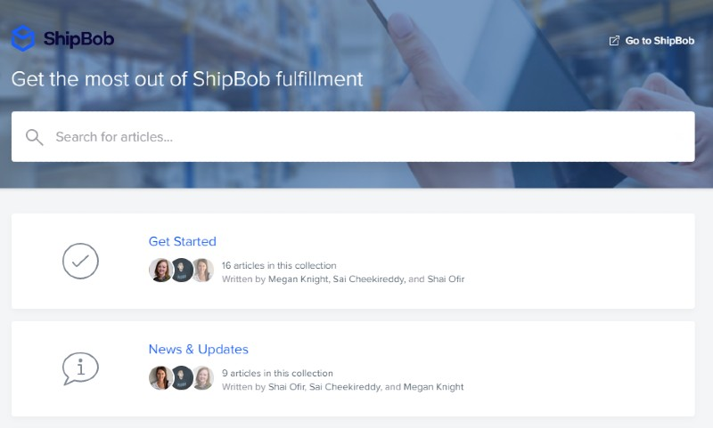 Customer support system - ShipBob: Reliable Shipping Services