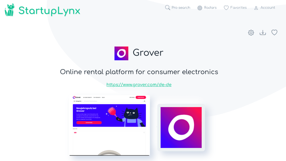 Grover, online rental platform for consumer electronics