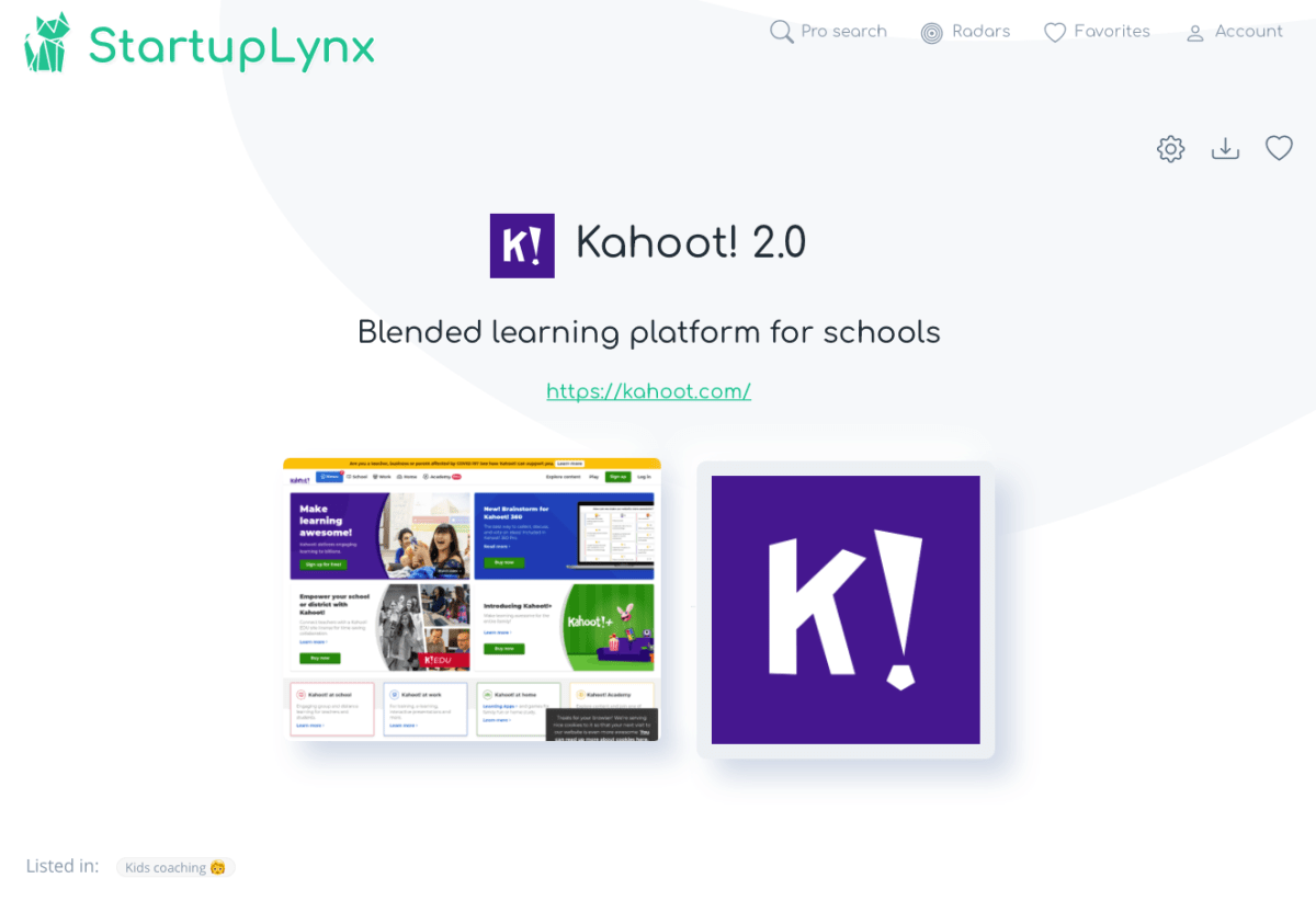Kahoot is a platform for teachers and students to create quizzes, discussions, or surveys using an online editor that can be played in a classroom using personal mobile devices.