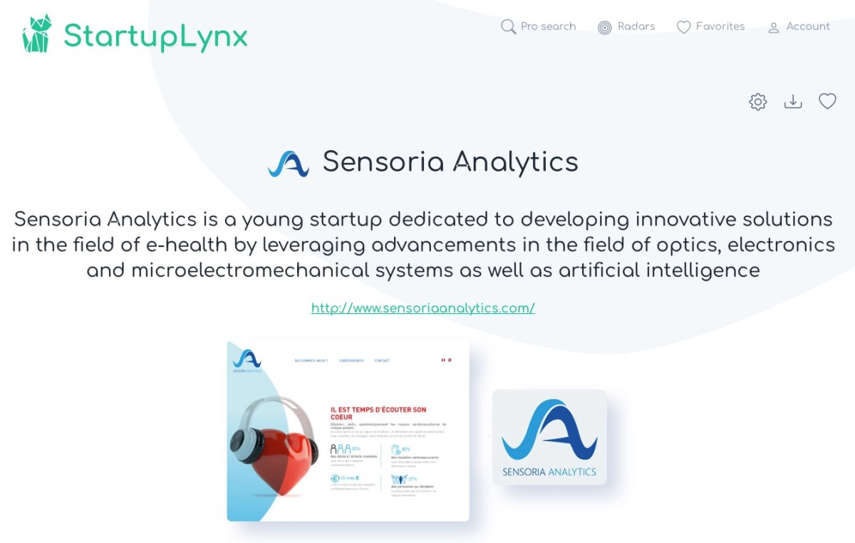 Sensoria Analytics is a young startup whose mission is to develop innovative solutions in the field of e-health by exploiting advancements in the field of optics, electronics and microelectromechanical systems as well as artificial intelligence.