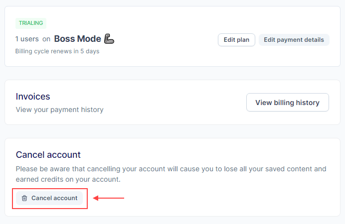jarvis.ai account cancellation