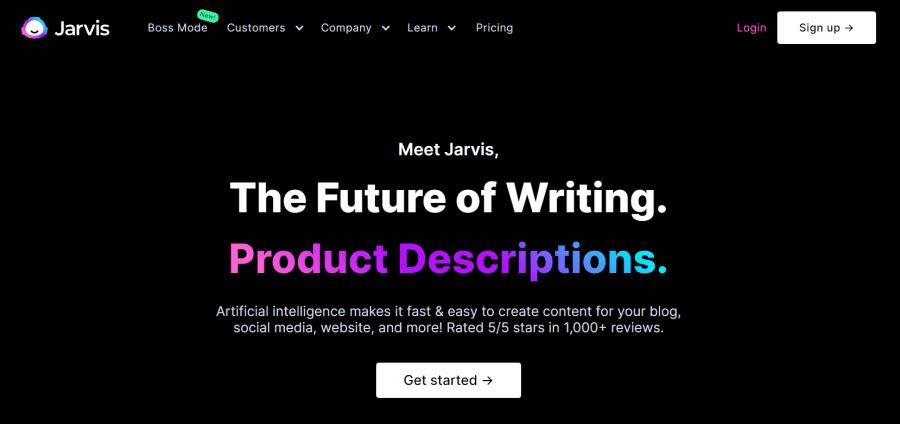 product description generator: Jarvis AI