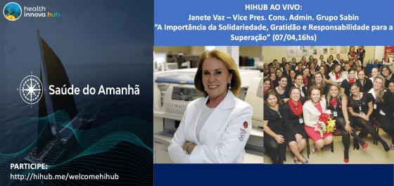 HIHUB AO VIVO: Janete Vaz