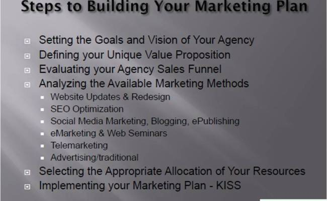 Steps To Building Your Insurance Agency Marketing Plan