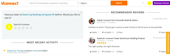 Reviews On VConnect Site