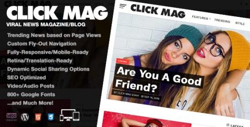 Click Mag - Viral WordPress News Magazine/Blog Theme: