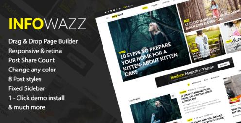 InfoWazz - WordPress Theme for Blog / Magazine / Newspaper