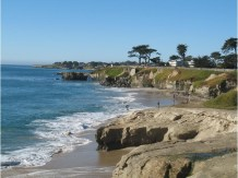 Santa Cruz beach and cliffs