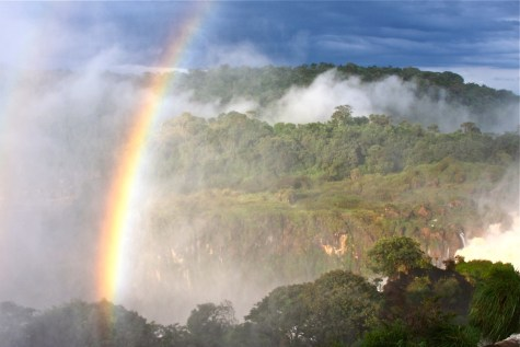 Rainbow over Iguazu Falls