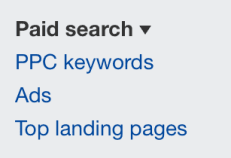 paid search filters in ahrefs