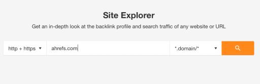 site explorer in ahrefs