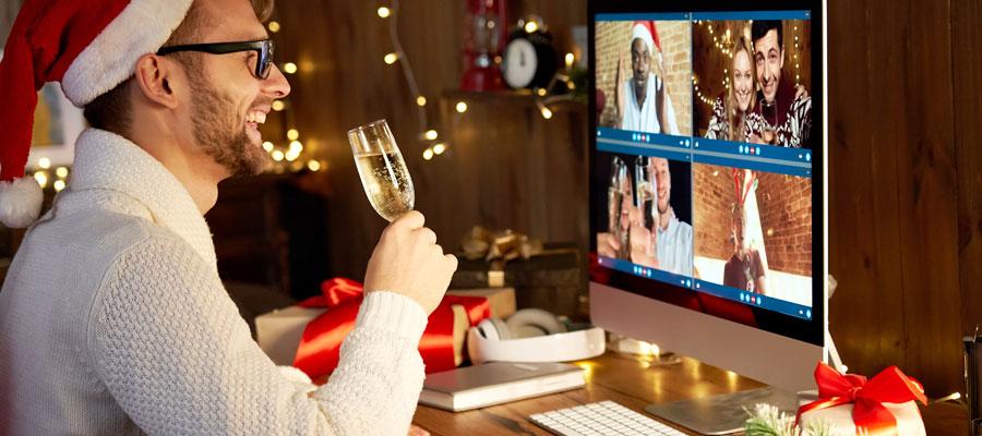 Online Weihnachtsfeier versteuern (Bild: Shutterstock)