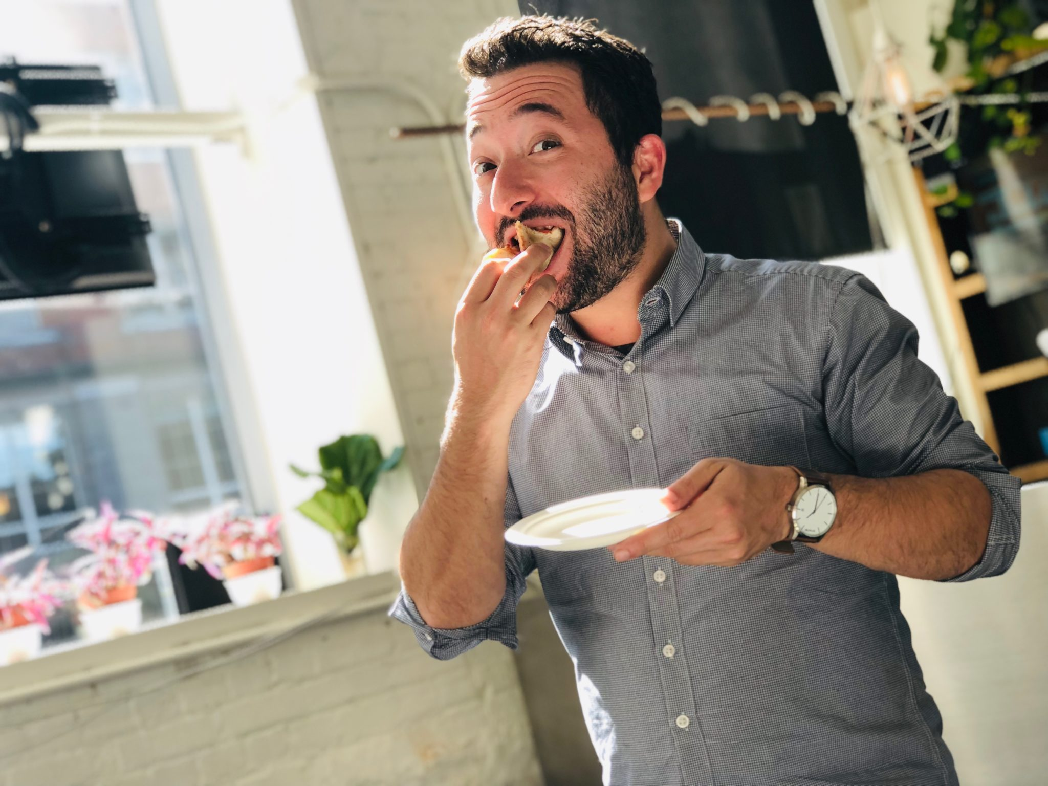 Corey Caplan - Gusto WorldWide Media (Eating Pizza at StartWell)