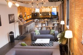 Multiple seating formats on a single floor
