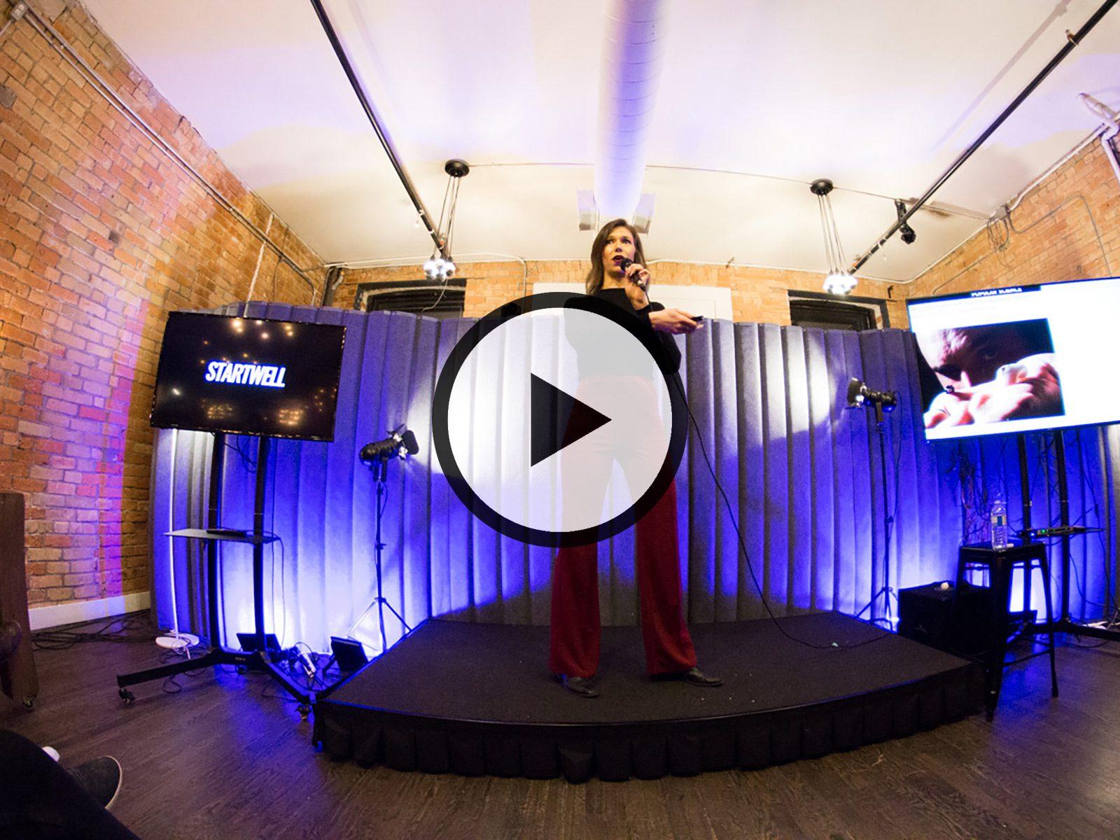 Oksana Andreiuk at Dark Futures YYZ 2019 (at StartWell)