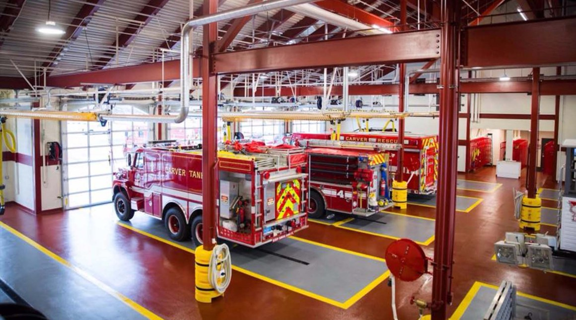 Shop Floor epoxy flooring in fire station