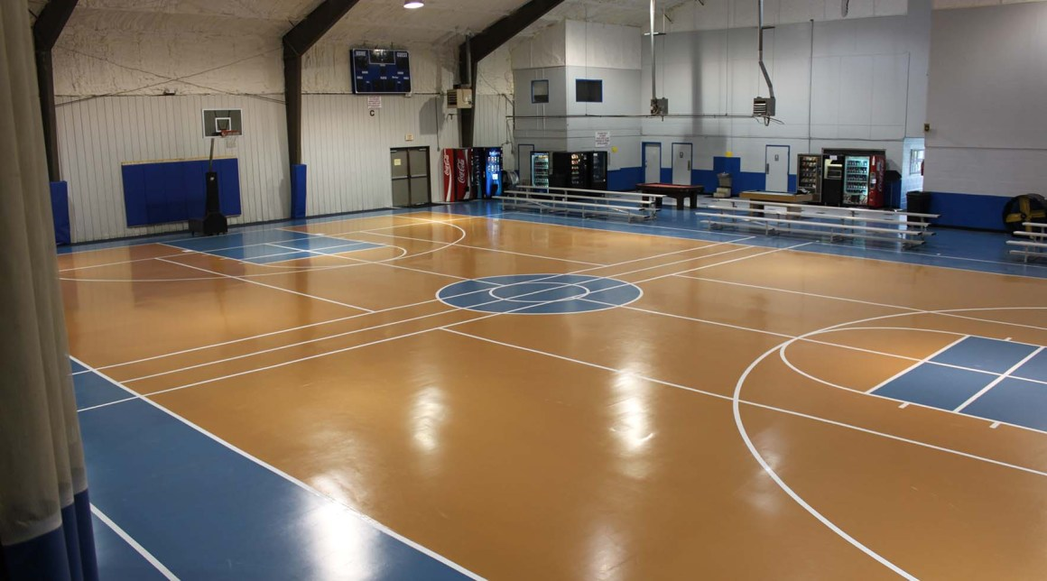 custom color indoor basketball court