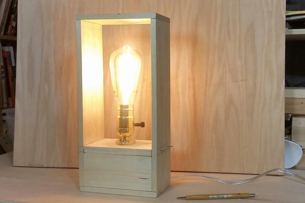 tall wood lamp